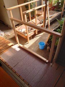 バリアフリー化リフォーム奈良県家のリフォーム工務店住まいるサービス手すり設置